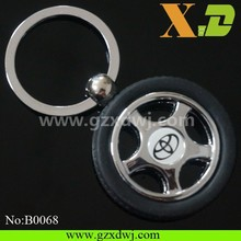 New Creative Tyre Key Chain with car logo