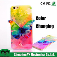 color changing butterfly 3d mobile phone cover for iphone and samsung