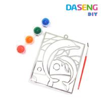 Kids diy plastic suncatcher paint art for sale