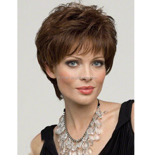 Popular fashion in Europe and the short curly wig High temperature wire mesh wig rose