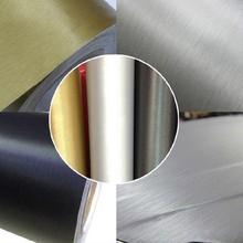 Hot!!! Fashion1.52*30M PVC Matte Black Color Brushed Metallic Chrome Film