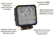 LED Work Light 12/24V Driving On Truck, Jeep, Atv, 4WD, Boat, Mining LED driving light