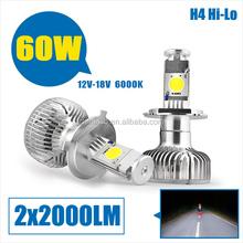 High power hi/low car h4 led headlight bulbs/H4 Car headlamp/H4 headlamp light