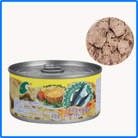 canned tuna shredded in vegetable oil