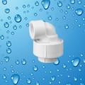 Pvc unión codo de agua de plástico línea de accesorios de tubería