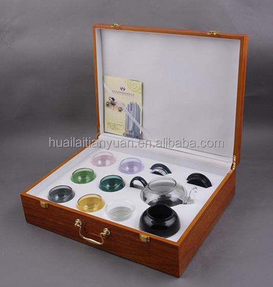 China factory modern designed pyrex clear glass teapot silver tea set