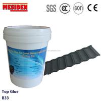 High bonding arylic glue for bent tiles