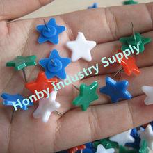 Plastic christmas ornament star shaped push pin