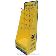 Cartridge holder display cardboard hook peg display stand unit