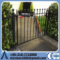 2015 Baochuan gate wrought iron / gate lattice panels / ornamental steel gate(manufacturer)