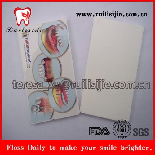 20yards FDA encerado hortelã aromatizado cartão dental fio dental fabrico personalizado rótulo