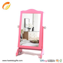 For Young Man Home Decoration Pink Jewelry Storage mirror