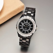 Stylish Wholesale New Round Dial Decoration Wrist Nice Watch for woman ROSRA.Free shipping.