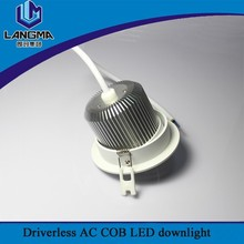 Langma 10W recessed China manufacturer supply COB dimmable adjustable led downlight