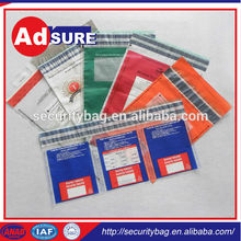 Plastic Clear Security Bank Bags/Clear Tamper Proof Plastic Bags/Security Packaging Factory