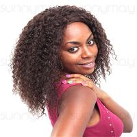 100% Brazilain Virgin Hair Afro Kinky Curly Box Braid Lace Wig Natural Cheap