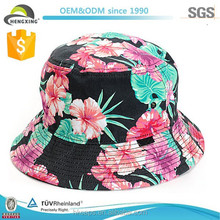 Wholesale Custom Made Short Brim Colorful Floral Bucket Hat