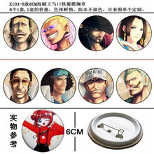 One Piece Anime Brooch 6cm
