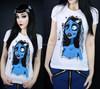 High quality new coming cotton spandex ladies t-shirt rhinestone