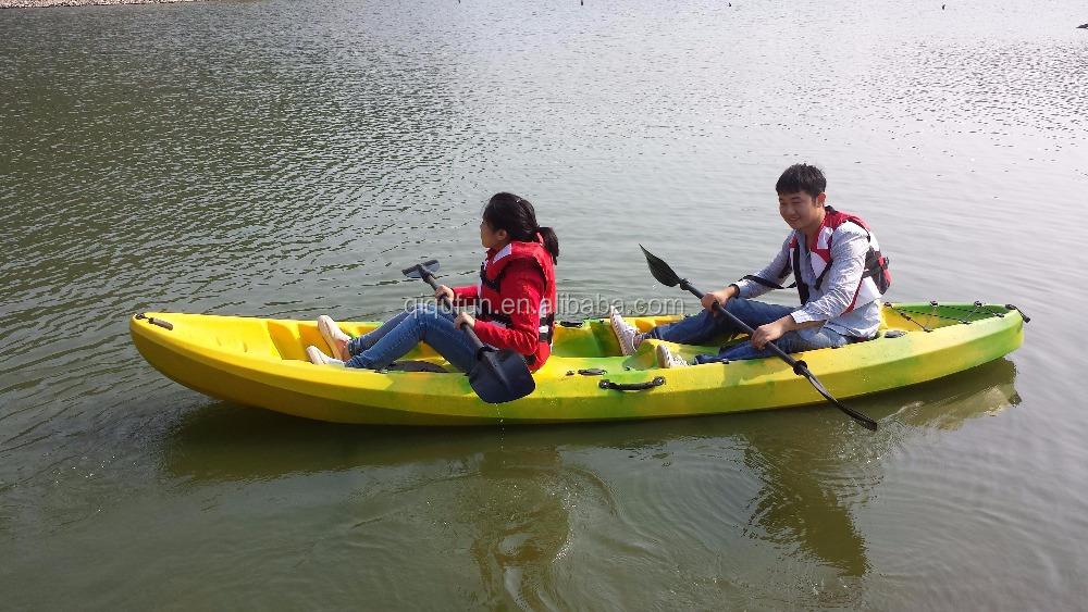 2015 cheap plastic fishing kayak foldable rowing boat on for Cheap fishing kayaks