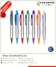 ergo grip promotional pen (digitally printed); twist action plastic ballpoint pen; metal clip and tip pvc ball pen
