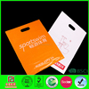 2015 customer design orange plastic die cut bags with oem logo