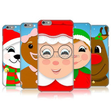2015 Christmas Pattern Back Cover Case For Iphone6 Mobile Phone Case With Handle