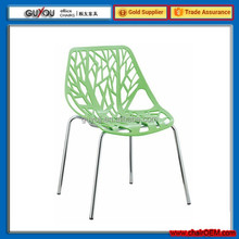 Fancy Design Rattan Plastic Dining Chair with Chrome Legs (GY-624C)