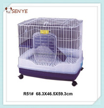 Luxury rabbit breeding cage,indoor plastic rabbit cage trays
