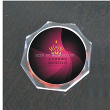 Branded design colored promotion acrylic coaster