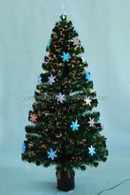 Fashion High Quality Artificial Optical Fiber Flower Led Lights Christmas Tree Ornament