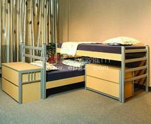 Guanghzhou Modern Well Design School Furntiure Wooden Dorm Bunk Bed