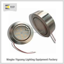 2w 10-25V AC/DC LED cabinet light round shape puck 12 volt led lightings