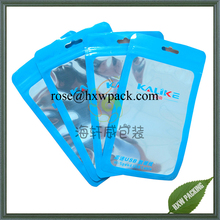 Custom flat aluminum foil one side clear toy gift packaging bag with ziplock