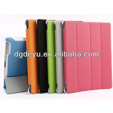 2013 new ball grain leather case for ipad 2/3 with screen effective protection