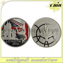 High quality custom London coin, 2012 London coin, silver London coins.