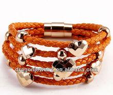 wholesale fashion 2012 leather bracelets bangle