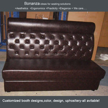 Modern design Sofa booth for restaurant FK-1006A# modern designs, leather, fabric, PU available