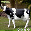 Lawn Decoration Fiberglass Life Size Cow Statue