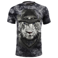 new fashion trend men casual short sleeve full cotton tie dyed european sized t shirts