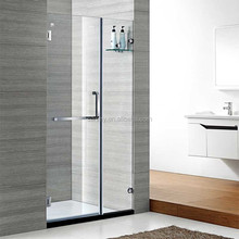 one solid one live hinge shower screen