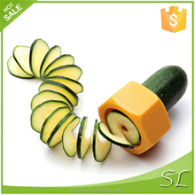 Cucumber spiral slicer with 2 different color