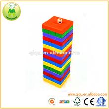De gama alta Handmake de colores de madera de construcción juguetes del ladrillo