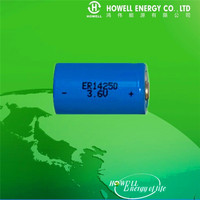 UL Approved 3.6V Lithium Battery 1/2AA ER14250 / AA ER14505