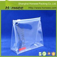 custom design high quality plastic pvc transparent toilet bag