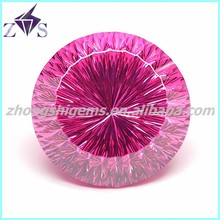New Products Concave Cut Round Synthetic Red Ruby