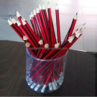 Hot Selling Sharpened Striped School Writing Nature Wooden Pencil