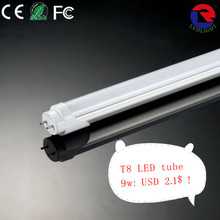 Safety IC driver 6500k cool white led tube t8 9w 600mm lights