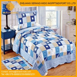 Patchwork printed 100% cotton bedding set