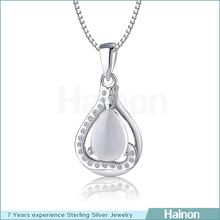 2015 Charm 925 Sterling Silver opal Pendants wholesale